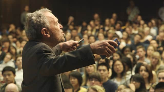 "Former U.S. Secretary of Labor Robert Reich stars in the film ""Inequality for All."""