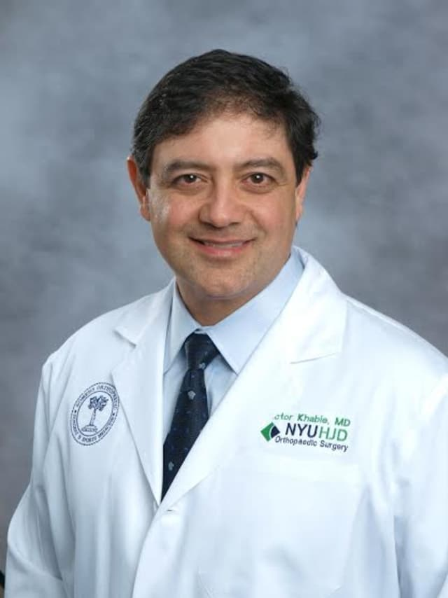Victor Khabie, MD, Chief of Sports Medicine at Northern Westchester Hospital.