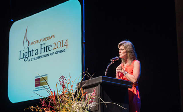 Kendra Farn was the host of the 7th Annual Light a Fire Awards in Westport on Nov. 13.