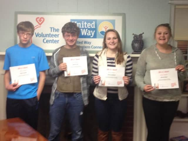 Honorees of the Youth Volunteer Corps