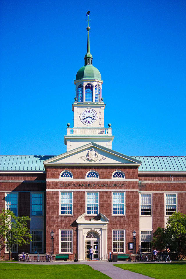 Bucknell University library. Bucknell hosted the BizPitch competition, in which a Wilton resident participated.