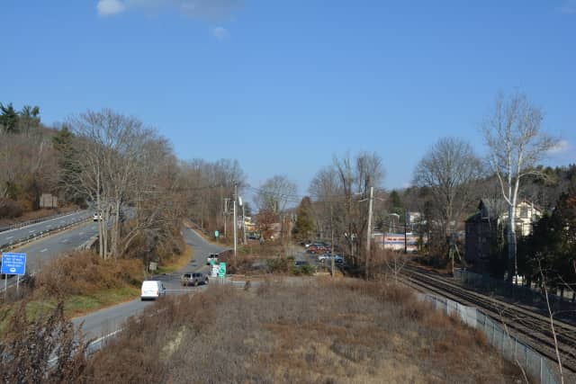 The proposed site for Conifer Realty's Chappaqua Station apartment building.
