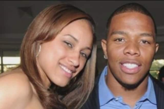 Former Baltimore Ravens linebacker Ray Rice and wife Janay Rice.
