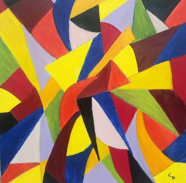 """Festivity,"" oil on Canvas by faculty member, Carol Dixon."