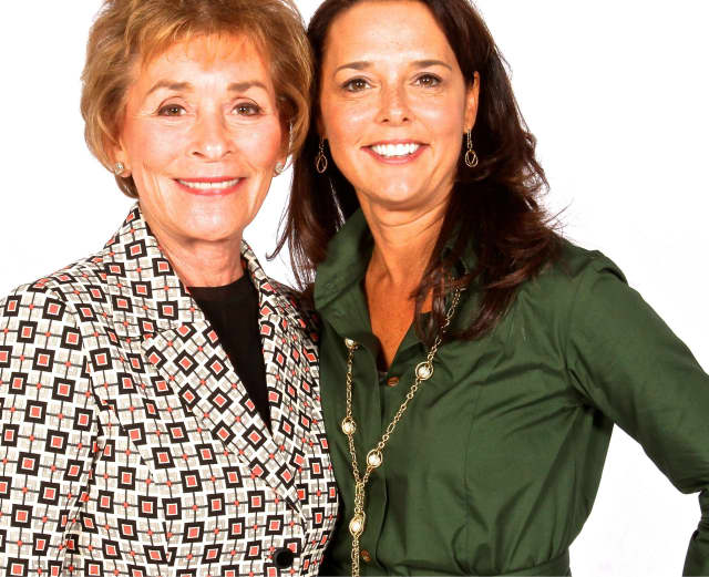 Greenwich resident Judge Judy with her stepdaughter, Nicole Sheindlin.