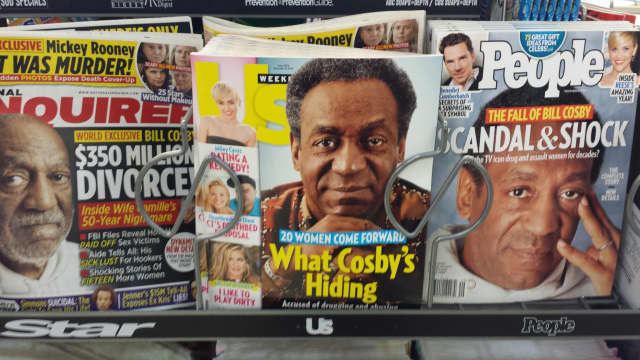 Bill Cosby is making tabloid headlines in Harrison.