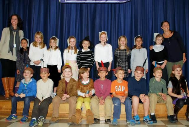 """Holmes School students performed in """"A Native American Welcome."""""""