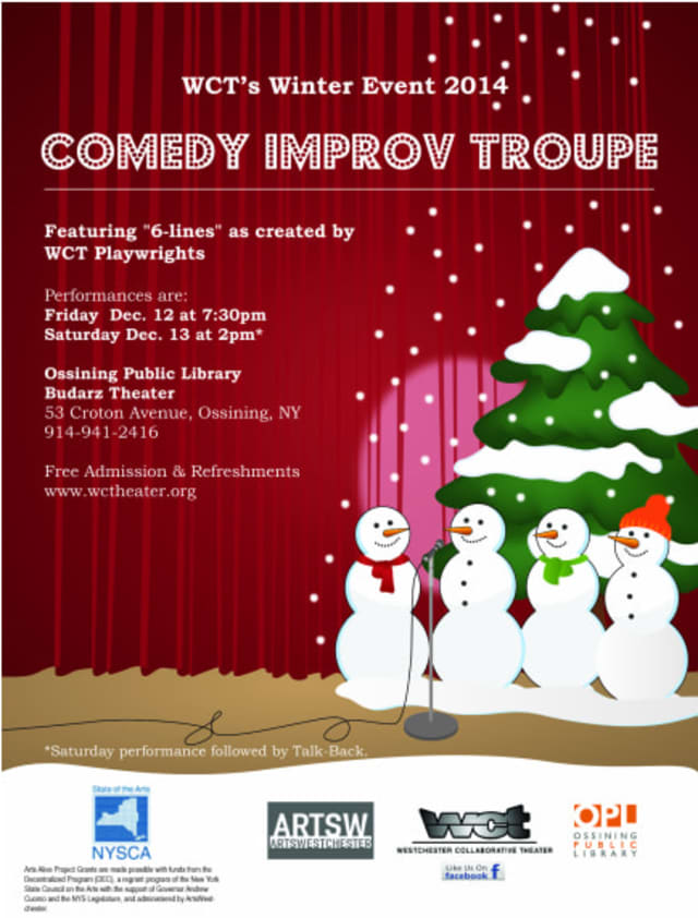 There will be a comedy show Dec. 12-13 at the Ossining Public Library.
