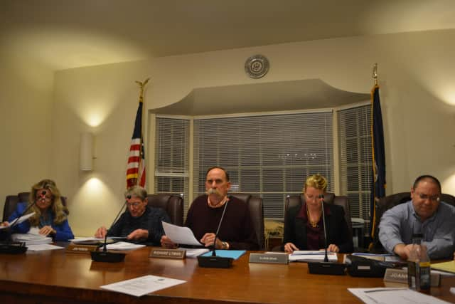 The Pound Ridge Town Board at its Dec. 4 meeting.