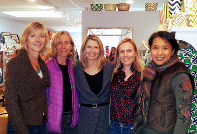 Members of the YWCA Darien/Norwalk at the Darien benefit hosted by Everything is Rosey.