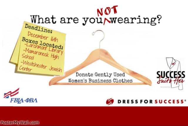 Donate to the Future Business Leaders of America clothing drive.
