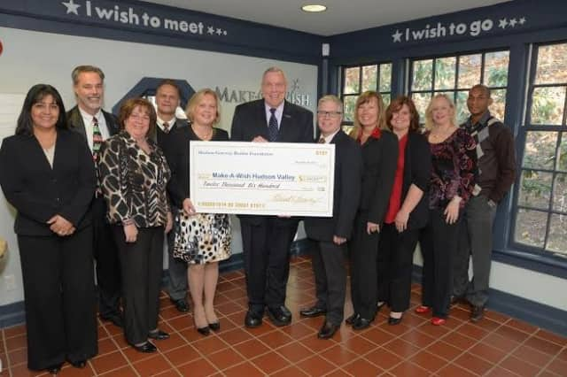 The Hudson Gateway Association of Realtors donated a check for $12,600 to Make-A-Wish Hudson Valley.