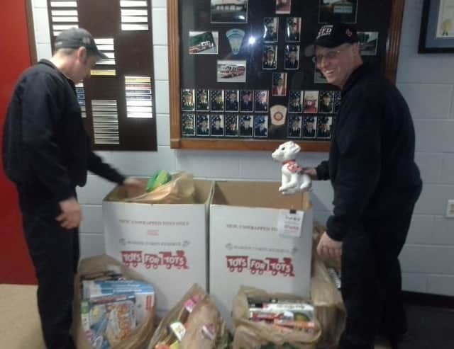 """The Wilton police and fire departments are hosting """"Stuff a Cruiser"""" Sunday for Toys for Tots."""