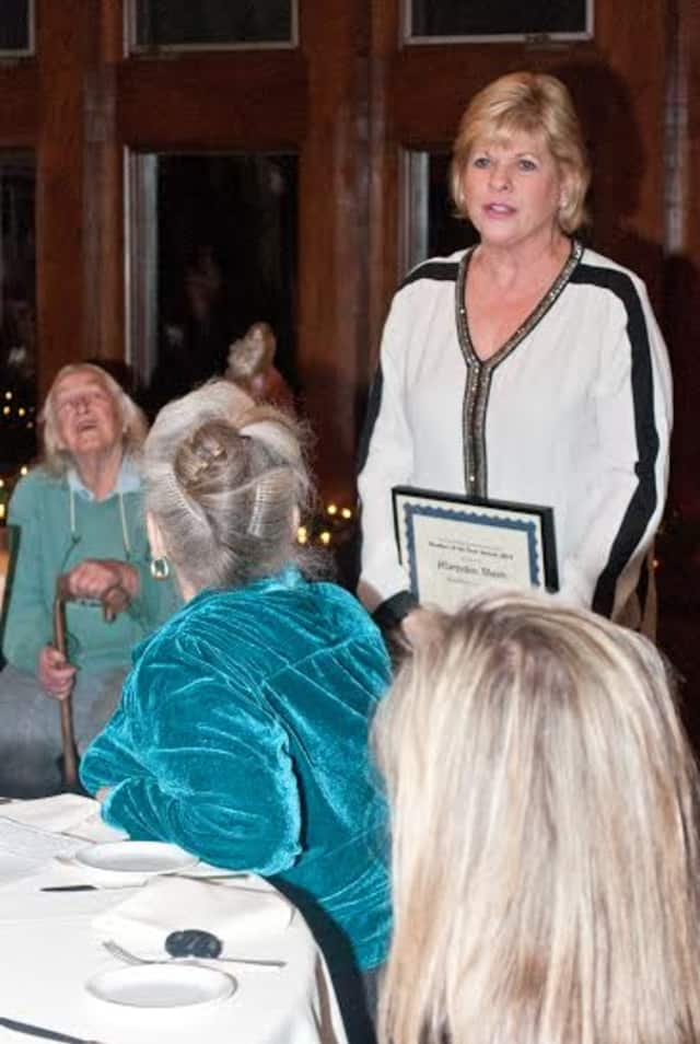 Maryellen Walsh was honored as Member of the Year at the Pound Ridge Business Association's annual meeting.