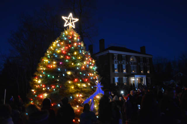The Somers Christmas Tree lighting on the front lawn of the Elephant Hotel will be Saturday, Dec. 10.