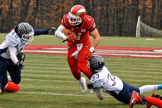 Frank Cognetta is New Canaan's leading rusher with 673 yards and six touchdowns this year.