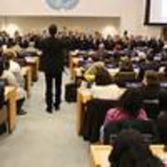 Several Eastchester students who participate in Young at Arts performed at the United Nations last month.