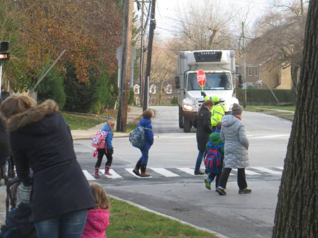 A Bergenfield crossing guard hit last week is out of the hospital and in physical therapy.