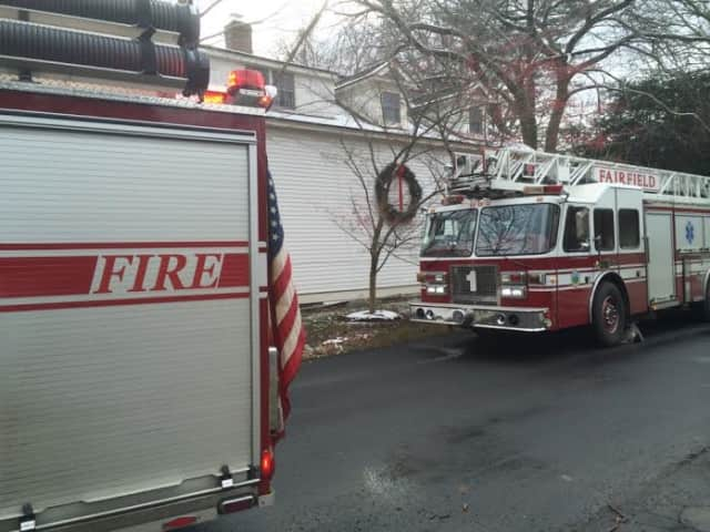 No injuries were reported in a fire Sunday morning at the Fairfield University campus.