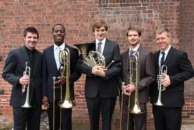 Patrick Durbin (trumpet), Daniel Fears (bass trombone), Thomas Park (horn), Curtis Biggs (trombone) and Carl Stanley (trumpet).