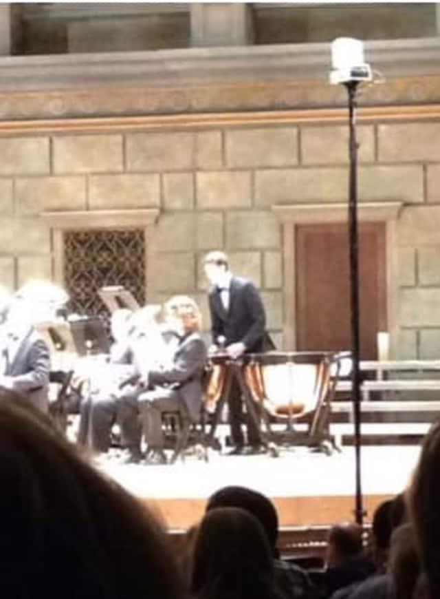 Liam Davis performed on the timpani.