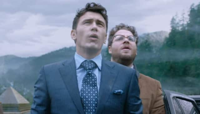 'The Interview' is a a controversial comedy which focuses on a pair of TV journalists, played by actors James Franco, left, and Seth Rogen, who are recruited by the CIA in a plot to assassinate North Korean leader Kim Jong Un.