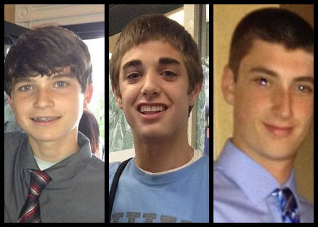 Ryan Lesher, Shamus Digney and Cullen Keffer were killed in an accident in Pennsylvania.