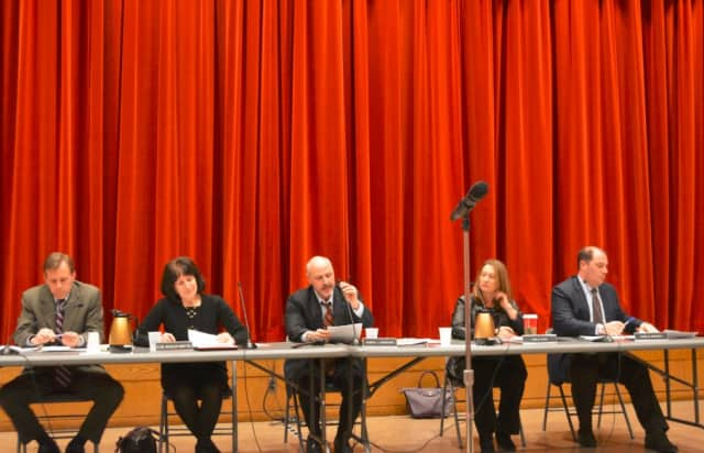 The New Castle Town Board at its special meeting.