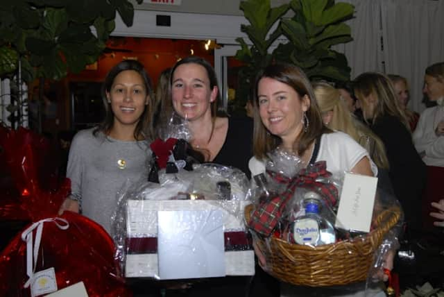Winners of the cookie contest, from left, Alyson Johnson, Georgia Solomon, and Anne-Marie Mallie