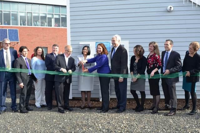 The E-house's ribbon-cutting ceremony in Danbury.