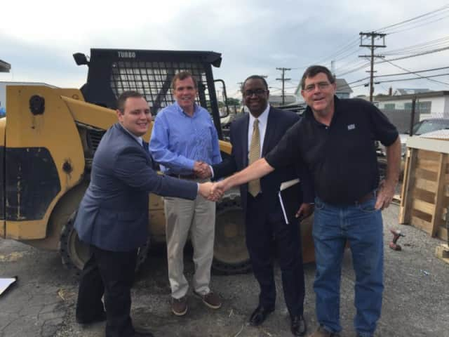 From left, Ross Weiner, Westchester IDA, Sean Murphy, vice president of Murphy Brothers Contracting , Jim Coleman, executive director of the  Westchester County IDA; Chris Murphy, president of Murphy Brothers.