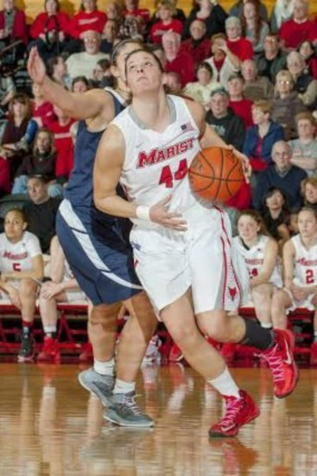Tori Jarosz, a senior from Cortlandt Manor, scored 20 points Sunday for Marist College in an 82-64 win over South Dakota State.