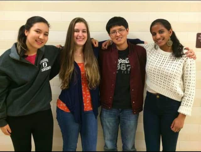 Stephanie Becker, Rebecca Hannan, Chris Gallego and Brinda Ramesh.