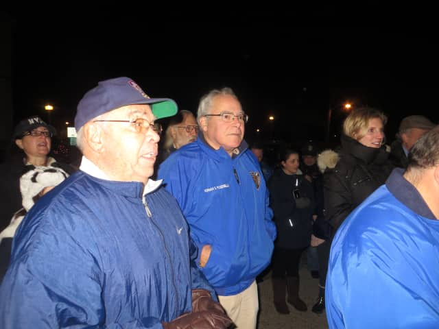 Mamaroneck Mayor Norman Rosenblum during a rally supporting police. Rosenblum, who has served as mayor the past six years, narrowly defeated Democrat Dan Natchez, a former village trustee, on Tuesday. Deputy Mayor Louis Santaro also was re-elected.