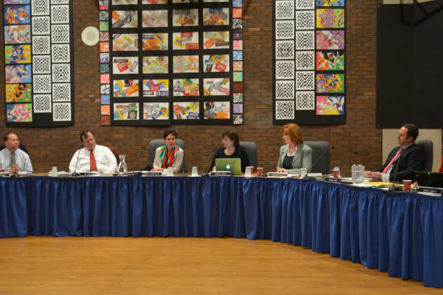 Bedford Central's school board at its Dec. 17 meeting.