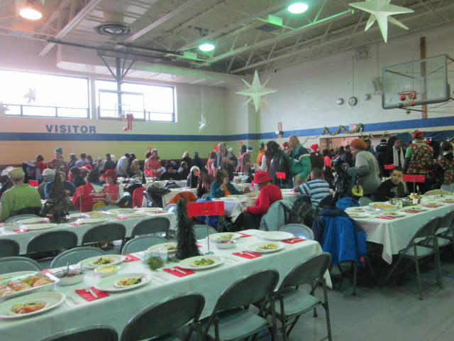 More than 300 people attended the annual Christmas dinner in Katonah held by a group of local volunteers.