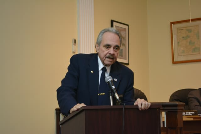 George Griffin speaks at his Veterans Hall of Fame nomination event on Nov. 3.
