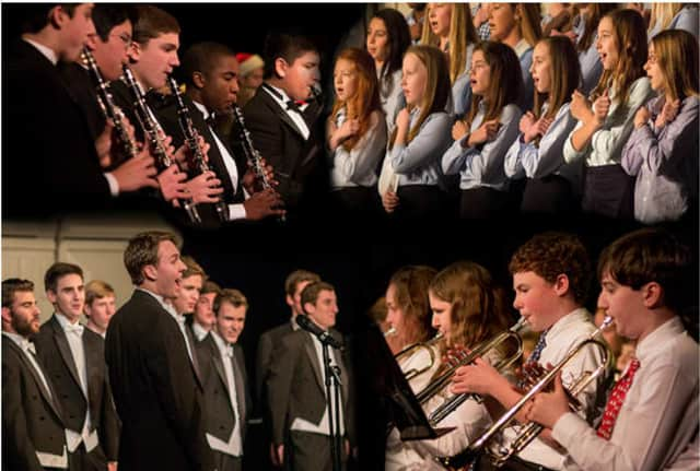Bands and choirs of St. Luke's performing during December's concerts.
