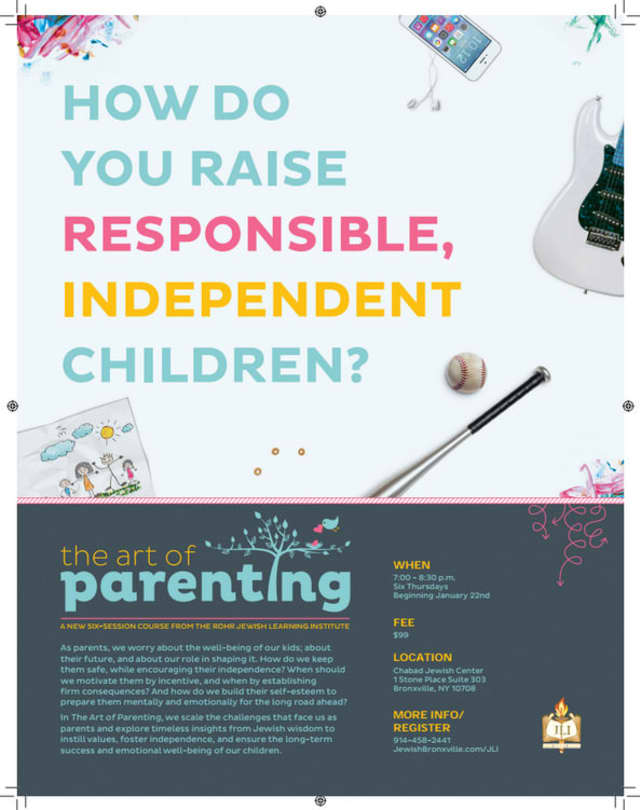 The Rohr Jewish Learning Institute is offering an institute on parenting.