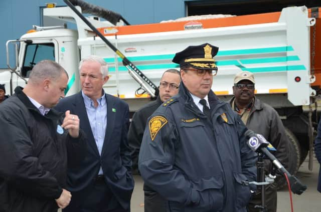 Bridgeport Mayor Bill Finch (left) and Police Chief Joseph Gaudett (right) are hoping for another successful gun buyback program Sept. 19.