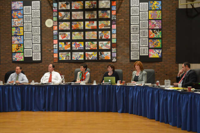 Members of Bedford school board at their Dec. 17 meeting.