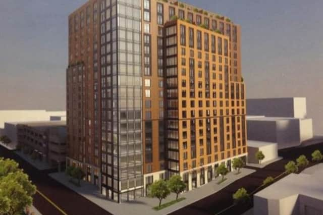 An artist's rendering of the proposed development at 42 W. Broad St. in Mount Vernon.
