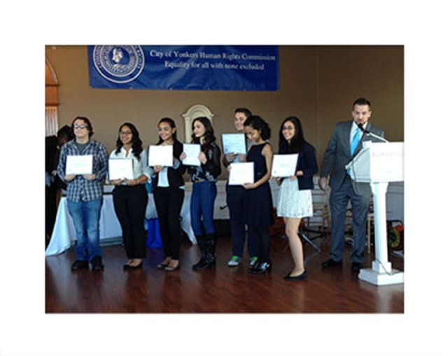 Yonkers students were recognized at the City of Yonkers Human Rights Commission breakfast.