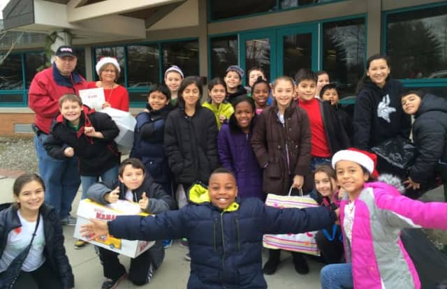 Kensico School fifth-grade students donated more than 150 toys to Toys for Tots.