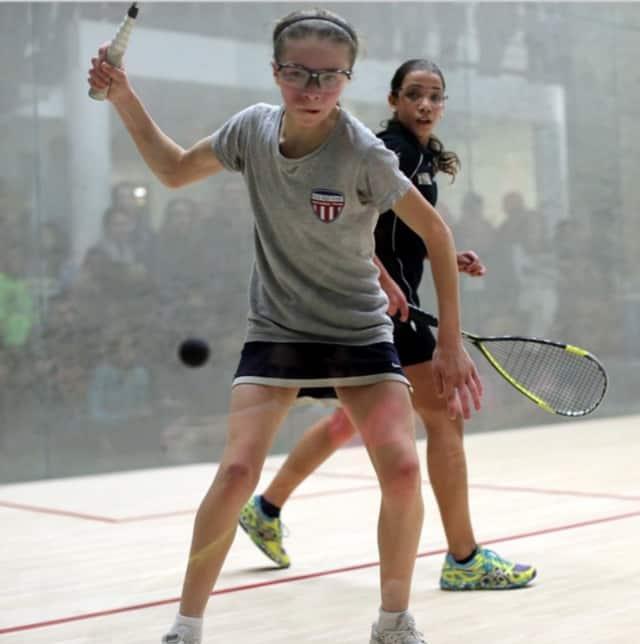 Darien's Marina Stefanoni, 12, recently won both the Canadian Junior Open and U.S. Junior Open squash tournaments.