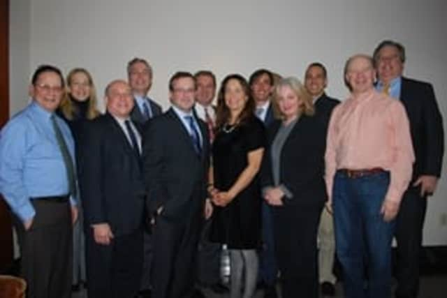The Board of Directors of Sustainable Westchester, from left: Herb Oringel, Sara Goddard, Christopher Burdick, Tom Roach, Dan Chorost, Michael Spano, Nancy Seligson, Noam Bramson, Laura Rossi, Camilio Patrignani, Michael Gordon, and Peter McCartt.