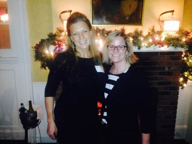 """Allison Stockel, left, executive director of The Ridgefield Playhouse, and Sarah Bouissou, owner of Bernard's and Sarah's Wine Bar, will be the hosts for """"Raise a Glass"""" on Wednesday, Feb. 4."""