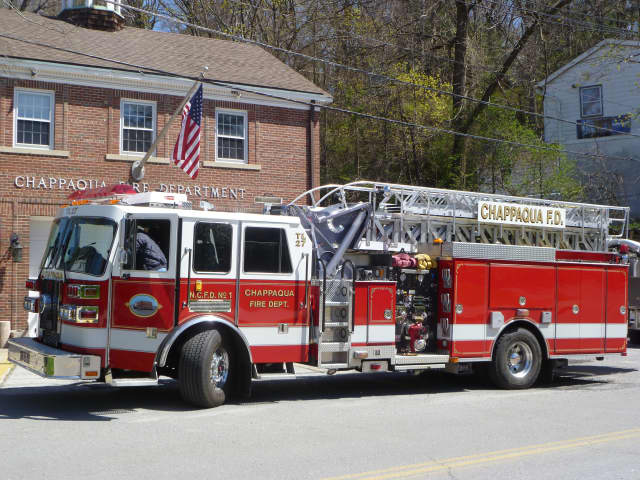 Chappaqua was one of four departments that responded to a Mount Pleasant residential fire on Thursday.