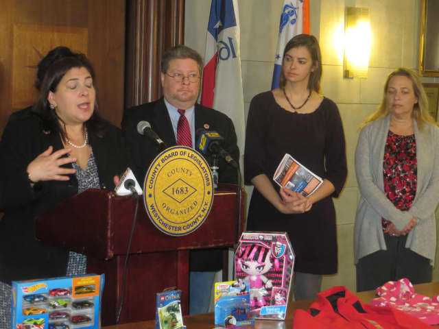 December news conference on hazardous toys.