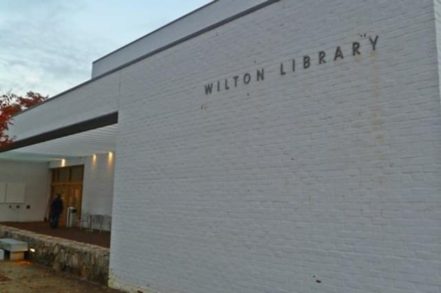 The Wilton Library is located at 137 Old Ridgefield Road.